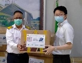 ミャンマー国鉄にマスク4万枚寄贈