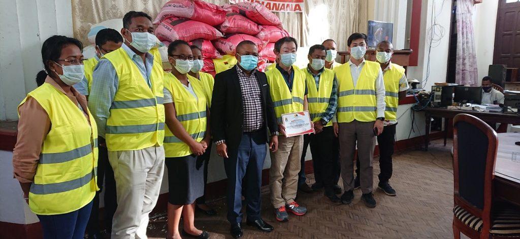 「マダガスカル国アツィナナナ県コロナウィルス対策オペレーション指令センター」 への寄付